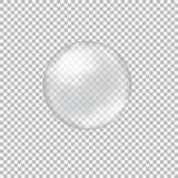 Διαφανής σφαίρα γυαλιού με τα έντονα φω'τα και τα κυριώτερα σημεία Στοκ εικόνες με δικαίωμα ελεύθερης χρήσης