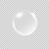 Διαφανής σφαίρα γυαλιού με τα έντονα φω'τα και τα κυριώτερα σημεία Στοκ Εικόνες