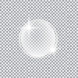 Διαφανής σφαίρα γυαλιού με τα έντονα φω'τα και τα κυριώτερα σημεία Στοκ φωτογραφία με δικαίωμα ελεύθερης χρήσης