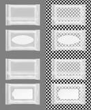 Διαφανής υγρός σκουπίζει τη συσκευασία με το χτύπημα ελεύθερη απεικόνιση δικαιώματος