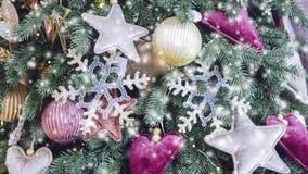 Διαφανής Snowflake διακόσμηση Χριστουγέννων έτους ντεκόρ νέα απεικόνιση αποθεμάτων