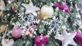 Διαφανής Snowflake διακόσμηση Χριστουγέννων έτους ντεκόρ νέα φιλμ μικρού μήκους