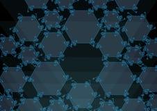 Διαφανή μπλε hexanes Στοκ Εικόνες