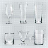 Διαφανή goblets γυαλιών Στοκ Εικόνα