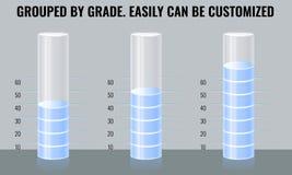 Διαφανείς διανυσματικοί σωλήνες εργαστηρίων Σχέδιο για το σχεδιάγραμμα ροής της δουλειάς, διάγραμμα, infographics Στοκ Εικόνα