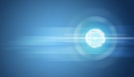 Διαφανείς κύκλοι στο μπλε υπόβαθρο Στοκ Εικόνα