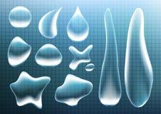 Διαφανείς πτώσεις eps 10 νερού Στοκ Εικόνες