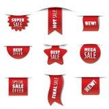 Διαφημιστικές αυτοκόλλητες ετικέττες πώλησης διανυσματική απεικόνιση