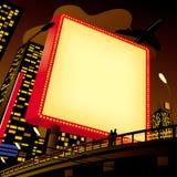 διαφημιστική πόλη πινάκων δ&io απεικόνιση αποθεμάτων
