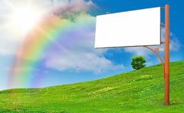 διαφημιστική στήλη Στοκ φωτογραφία με δικαίωμα ελεύθερης χρήσης