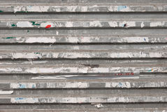 διαφημιστικός ξεφλουδισμένος τοίχος απορριμάτων στοκ εικόνα