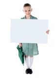 διαφημιστικό σχολείο κοριτσιών χαρτονιών χαριτωμένο Στοκ Εικόνες