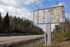 διαφημιστικό χαρτόνι παλα&i Στοκ Εικόνες