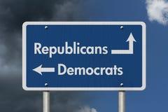 Διαφορά μεταξύ των Δημοκρατικών και των δημοκρατών Στοκ Εικόνα