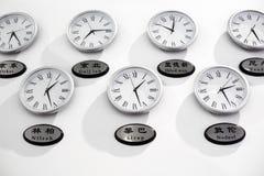 διαφορά ώρας ρολογιών Στοκ εικόνες με δικαίωμα ελεύθερης χρήσης