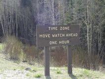 Διαφορά ώρας στο βουνό Στοκ εικόνα με δικαίωμα ελεύθερης χρήσης