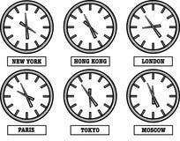 διαφορά ώρας Στοκ φωτογραφία με δικαίωμα ελεύθερης χρήσης