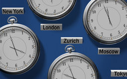 διαφορά ώρας ελεύθερη απεικόνιση δικαιώματος