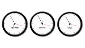 διαφορά ώρας διανυσματική απεικόνιση