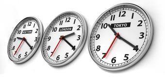 διαφορά ώρας Στοκ Εικόνες