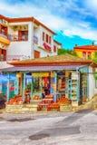 Διαφορετικά αναμνηστικά στο ελληνικό κατάστημα δώρων, Ελλάδα Στοκ φωτογραφία με δικαίωμα ελεύθερης χρήσης