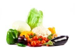 Διαφορετικά λαχανικά που απομονώνονται στο άσπρο υπόβαθρο Στοκ Φωτογραφία