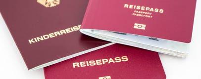 Διαφορετικά γερμανικά διαβατήρια στοκ φωτογραφία