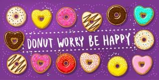 Διαφορετικά γλυκά donuts Στοκ φωτογραφίες με δικαίωμα ελεύθερης χρήσης