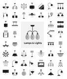 Διαφορετικά είδη λαμπτήρων τοίχων, οροφών, πινάκων και πατωμάτων σύγχρονος