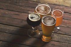 Διαφορετικά είδη της μπύρας Στοκ Εικόνες