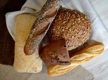 διαφορετικά είδη ψωμιού Στοκ Φωτογραφία