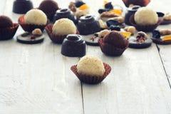 Διαφορετικά είδη καραμέλας σοκολάτας Στοκ εικόνα με δικαίωμα ελεύθερης χρήσης