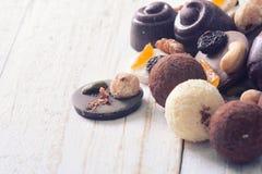 Διαφορετικά είδη καραμέλας σοκολάτας Στοκ Εικόνες