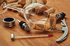 Διαφορετικά εργαλεία κρασιού Στοκ φωτογραφίες με δικαίωμα ελεύθερης χρήσης