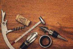 Διαφορετικά εργαλεία κρασιού Στοκ φωτογραφία με δικαίωμα ελεύθερης χρήσης