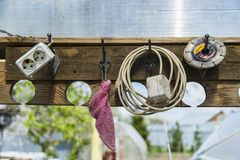Διαφορετικά εργαλεία υπαίθρια Στοκ Φωτογραφία