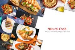 Διαφορετικά ευρωπαϊκά τρόφιμα Στοκ Εικόνα