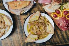 Διαφορετικά ιταλικά πιάτα Στοκ Φωτογραφία
