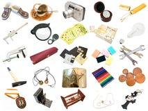 διαφορετικά καθημερινά αντικείμενα που τίθενται στοκ εικόνες με δικαίωμα ελεύθερης χρήσης