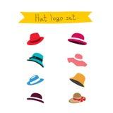 Διαφορετικά καπέλα εικονιδίων Στοκ Εικόνες