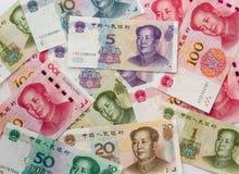 Διαφορετικά κινεζικά τραπεζογραμμάτια Yuan στοκ φωτογραφίες