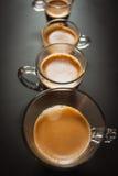 Διαφορετικά μεγέθη των φλιτζανιών του καφέ Στοκ Εικόνα