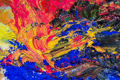 Διαφορετικά μικτά χρώματα - κίτρινα, κόκκινα, μπλε και μαύρα Στοκ Εικόνα
