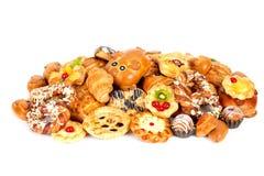 Διαφορετικά μπισκότα και κουλούρια Στοκ Εικόνες