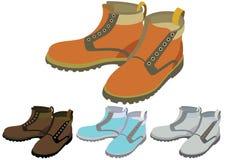 διαφορετικά παπούτσια χρώματος Στοκ Εικόνες