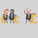 Διαφορετικά σύμβολα χρημάτων Στοκ φωτογραφία με δικαίωμα ελεύθερης χρήσης