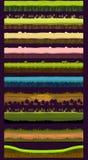 Διαφορετικά υλικά και συστάσεις για το παιχνίδι Διανυσματικό επίπεδο σύνολο Στοκ Φωτογραφίες