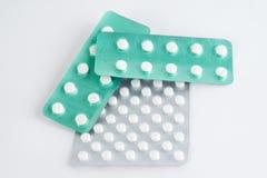 διαφορετικά φάρμακα Ταμπλέτες, χάπια στο πακέτο φουσκαλών φάρμακα Στοκ εικόνα με δικαίωμα ελεύθερης χρήσης