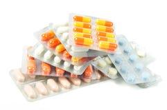 διαφορετικά χάπια πακέτων Στοκ Φωτογραφίες