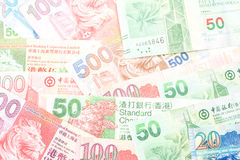 Διαφορετικά χρήματα νομίσματος Χονγκ Κονγκ Στοκ Εικόνες